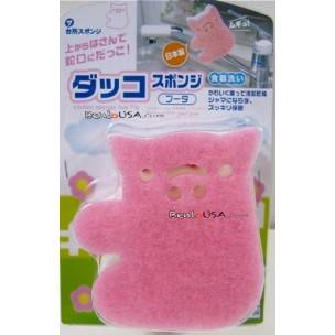 Japanese Kitchen Cute Sponge Hold On To Your Faucet Pink Pig