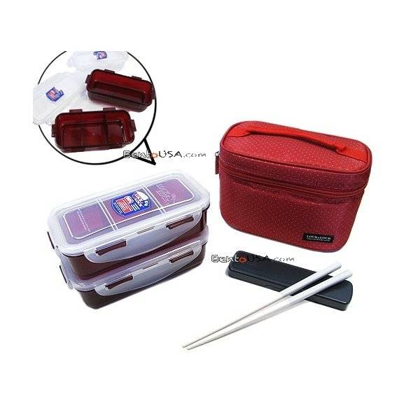 microwavable airtight bento lunch box set dishwasher safe red bag all thing. Black Bedroom Furniture Sets. Home Design Ideas