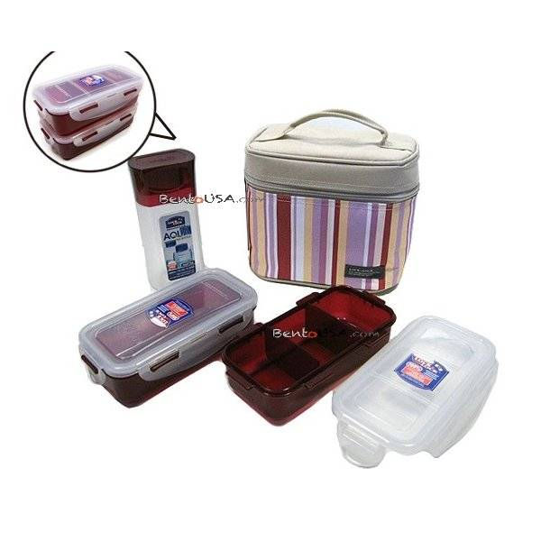 microwavable airtight bento lunch box set lovely red with bottle all things for sale. Black Bedroom Furniture Sets. Home Design Ideas