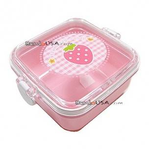 microwavable japanese bento box lunch box fruit pink strawberry all things for sale. Black Bedroom Furniture Sets. Home Design Ideas