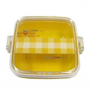 Microwavable Japanese Bento Box Lunch Box Fruit Yellow