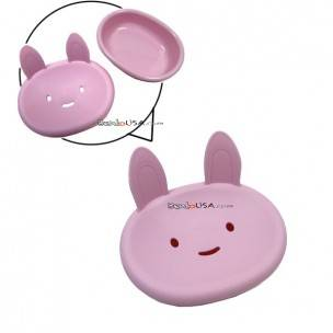 Japanese Kitchen Bathroom Cute Soap Dish Pink Bunny
