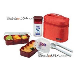 microwavable airtight bento lunch box set bpa free water. Black Bedroom Furniture Sets. Home Design Ideas