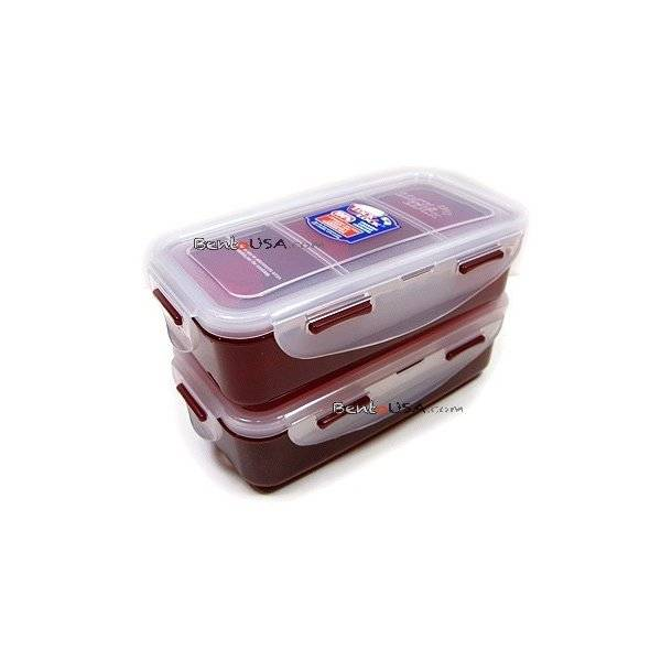 microwavable airtight bento lunch box set bpa free water bottle red all th. Black Bedroom Furniture Sets. Home Design Ideas
