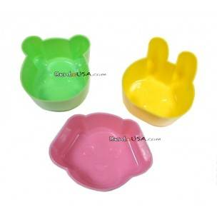 Japanese Bento Accessories Hard Plastic Food Cup cute Animal Shape