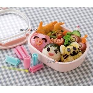 11 pcs Face Vegetable and Ham Cheese Cutter for bento box decoration accessory