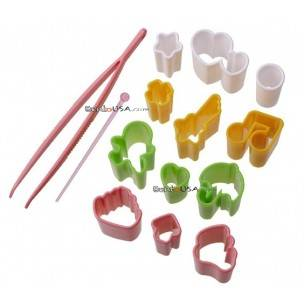 Japanese Bento Decoration Ham Cheese Cutter Fun Set 14 pcs