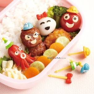 Japanese Bento Accessory Food Pick Hat 3D food picks 8 pcs