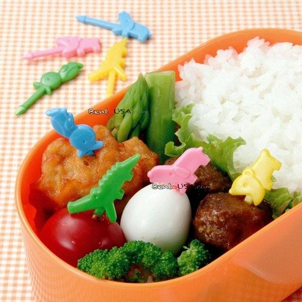Japanese Bento Accessory Food Pick Cute Biting Animal 12 pcs