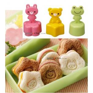 Japanese Bento Box Accessories Sandwich Vegetable Cutter 3 Stamps