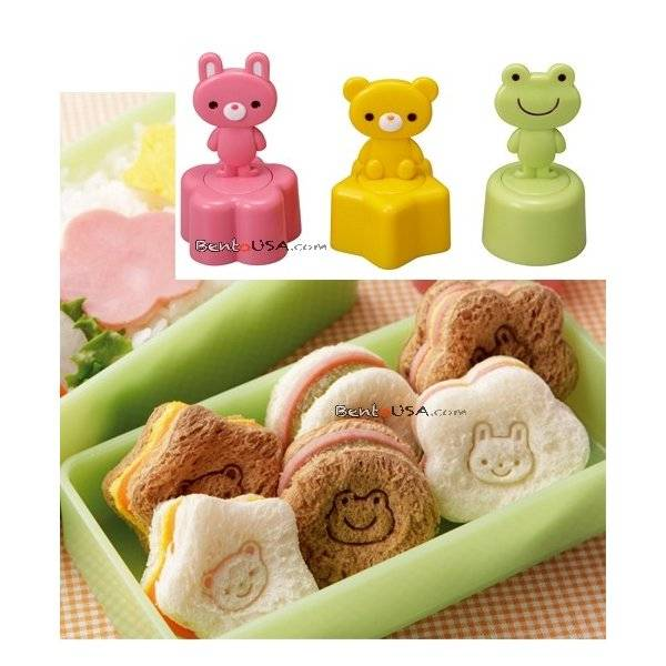 japanese bento box accessories sandwich vegetable cutter 3 stamps all things for sale. Black Bedroom Furniture Sets. Home Design Ideas