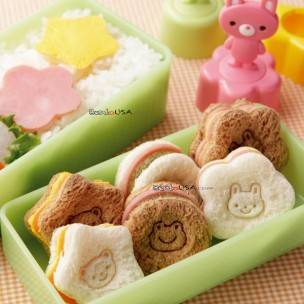 Japanese Bento Accessories Sandwich Vegetable Cutter 3 Stamps