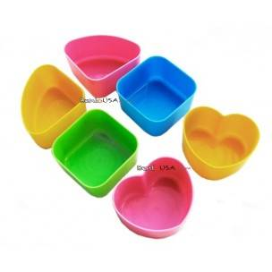Japanese Bento Accessories Hard Plastic Food Cup 6 cups