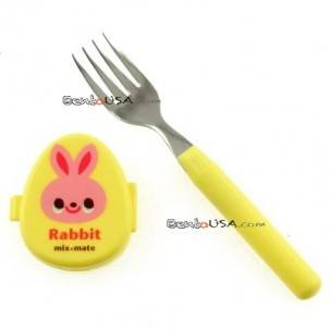 Japanese Bento Box Cutlery Fork with Animal Case