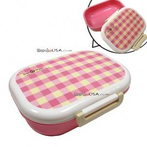 Japanese Microwavable One Tier Bento Box Lunch Box Pink