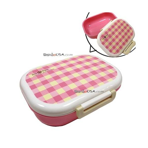 japanese microwavable one tier bento box lunch box pink. Black Bedroom Furniture Sets. Home Design Ideas