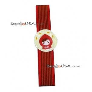 Japanese Bento Box Elastic Band Lunch Box Bento Strap Red Lady