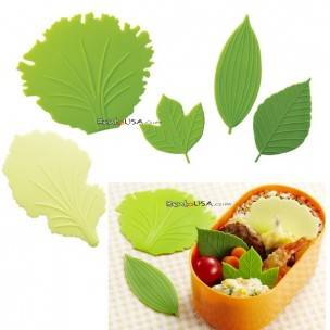 Silicone Microwavable Reusable Bento Baran Lettuce Leaf Sheet