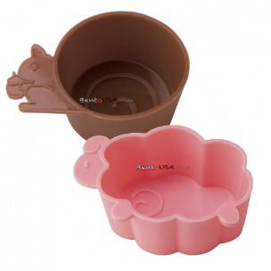 Japanese Bento Accessories Microwavable Silicone Food Cup Sheep Squirrel