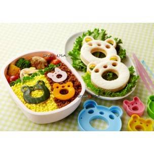 Japanese Bento Accessories Deco Cutter Ham Cheese Cutter Set Wow Animal