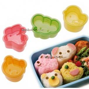 Japanese Bento Decoration Animal Shaped Rice Mold 4 Designs