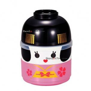 Japanese Bento Box 2 tier Lunch Box Kokeshi Keisha Set