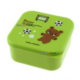 Microwavable Japanese Bento Box Lunch Box Cute Green Bear 400 ml