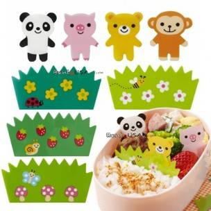 Japanese Microwavable Bento Baran Food Partition Sheet Set