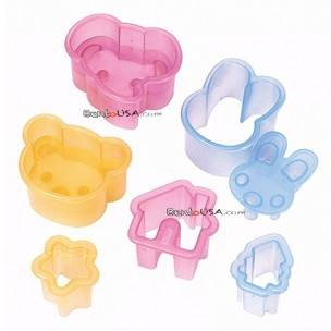 Japanese Bento Deco Cutter Cooking Mold 9 pcs Ham Cheese Cutter