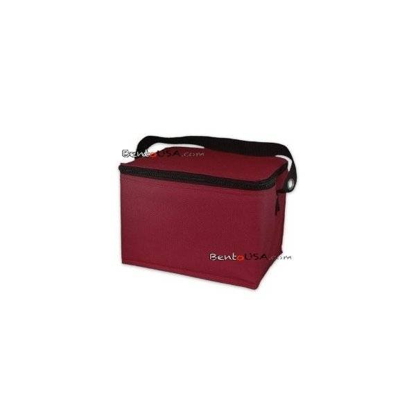 easylunchboxes cooler insulated bento lunch bag dark red. Black Bedroom Furniture Sets. Home Design Ideas