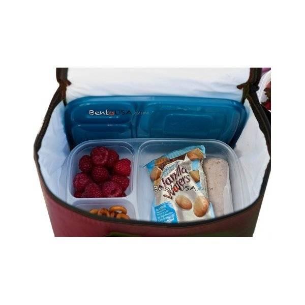 easylunchboxes cooler insulated bento lunch bag dark red. Black Bedroom Furniture Sets. Home Design Ideas