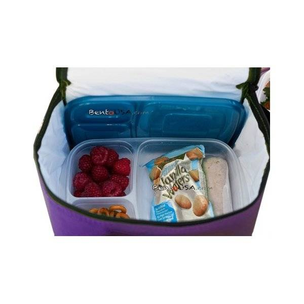 easylunchboxes cooler insulated bento lunch bag purple. Black Bedroom Furniture Sets. Home Design Ideas