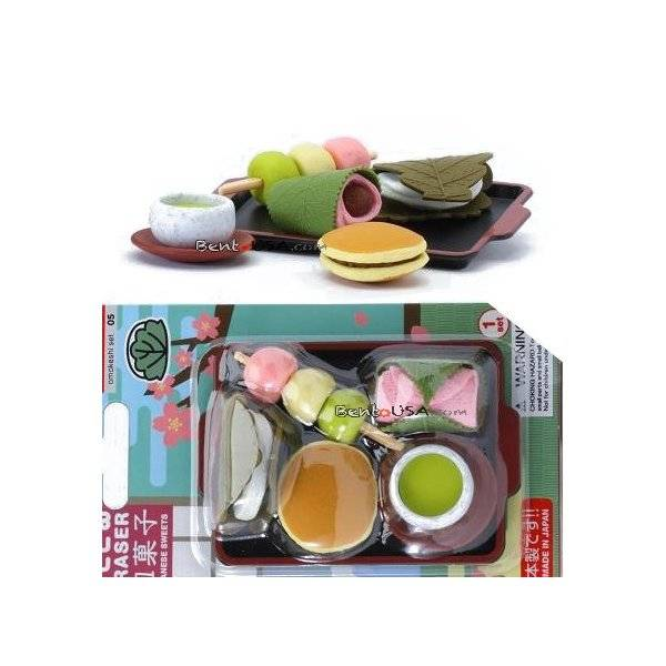 Cute japanese eraser set collectible japanese dessert 6 pcs for Cute stuff for sale