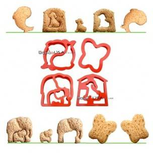 Food Sandwich Cutter set of 4 Animal Shapes