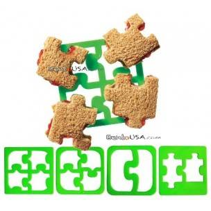 Food Sandwich Cheese Cutter set of 4 Puzzle Shapes