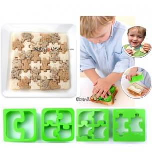 Food Sandwich Cutter set of 4 Puzzle Shapes