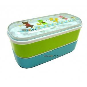 Microwavable Japanese Bento Box Lunch Box Bear 3 tiers