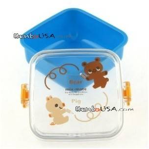 microwavable bento box for snack, fruit, salad for kids, blue
