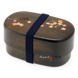 japanese microwavable bento box gorgeous woodgrain sakura. Black Bedroom Furniture Sets. Home Design Ideas