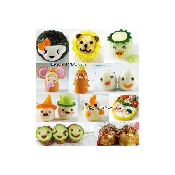 Decorative Bento Cutter Ham Cheese Cutter Set 15 Facial