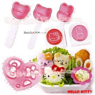 Hello Kitty Decorative Bento Mold Tools Set