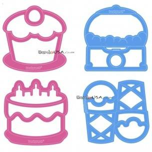 Food Sandwich Cutter set of 4 Sweet Shapes