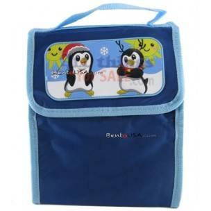 Insulated Bento Lunch Bag with 3D design Penguin