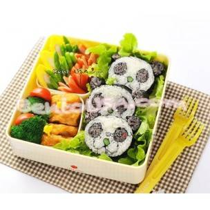 Japanese Sushi Nori Maki Rice Mold Roll Kit Panda Head