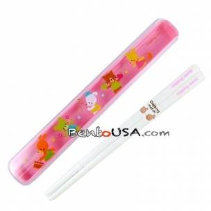 Japanese Bento Chopsticks with Case Pink