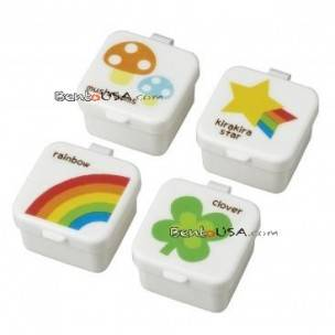 Japanese Bento Box Accessories Sauce Container set of 4 Mayo Cup Happy