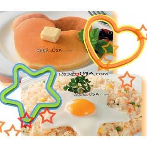 Bento Silicone Cooking Mold Deluxe set with Turner pancake egg