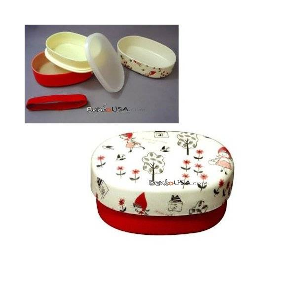 japanese 2 tier bento lunch box red riding hood. Black Bedroom Furniture Sets. Home Design Ideas