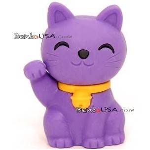 Cute japanese eraser collectible lucky cat purple for Cute stuff for sale