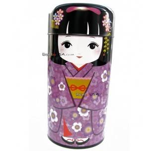 Japanese Doll Tea Can Container Accessories Box 150ml purple